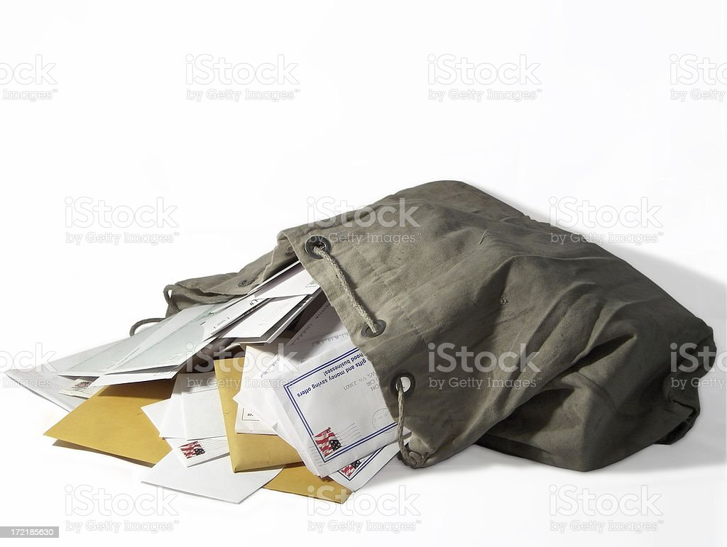 Sack of Mail royalty-free stock photo