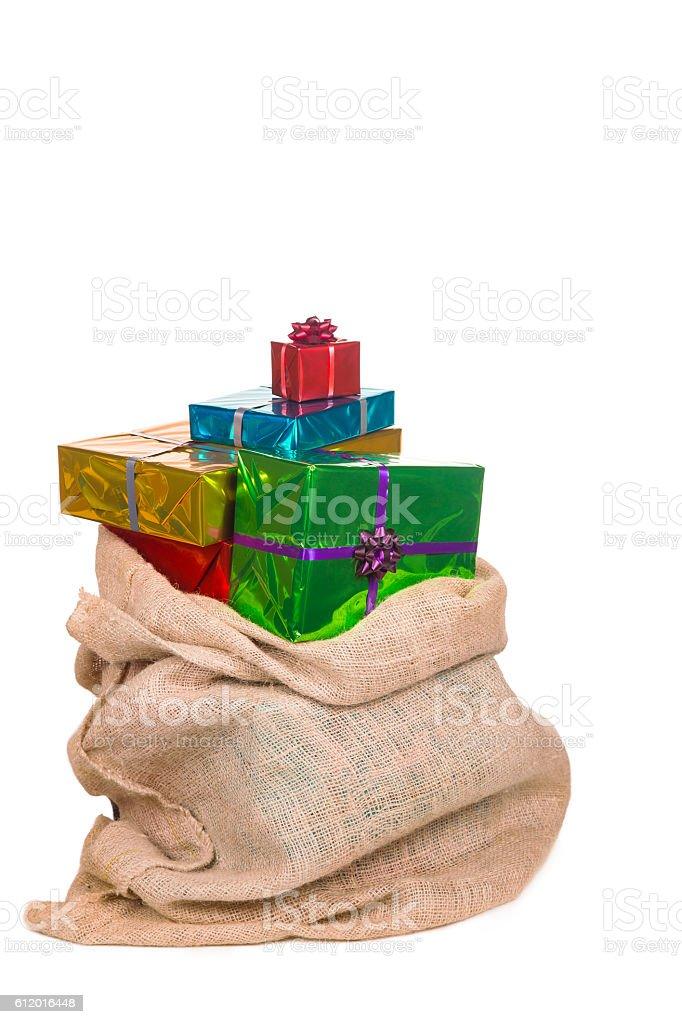 Sack of saint Nicholas with presents - Royalty-free Canvas Stockfoto