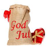 istock Sack with gift box 529749121