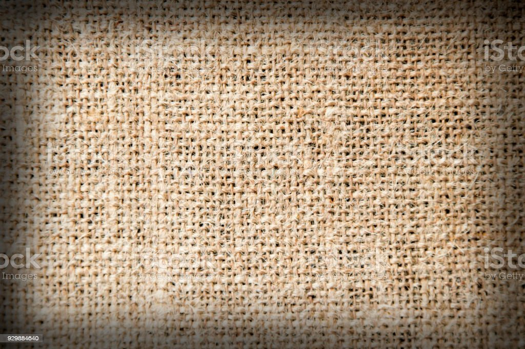 sackcloth fabric as texture background stock photo