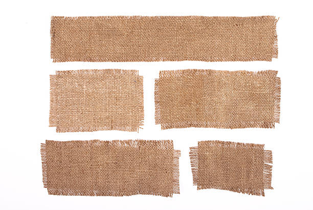 Sackcloth materials isolated on white Sackcloth materials isolated on white burlap stock pictures, royalty-free photos & images