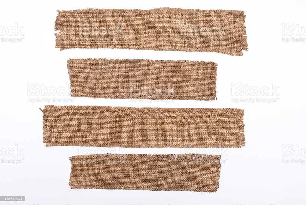 Sackcloth materials royalty-free stock photo