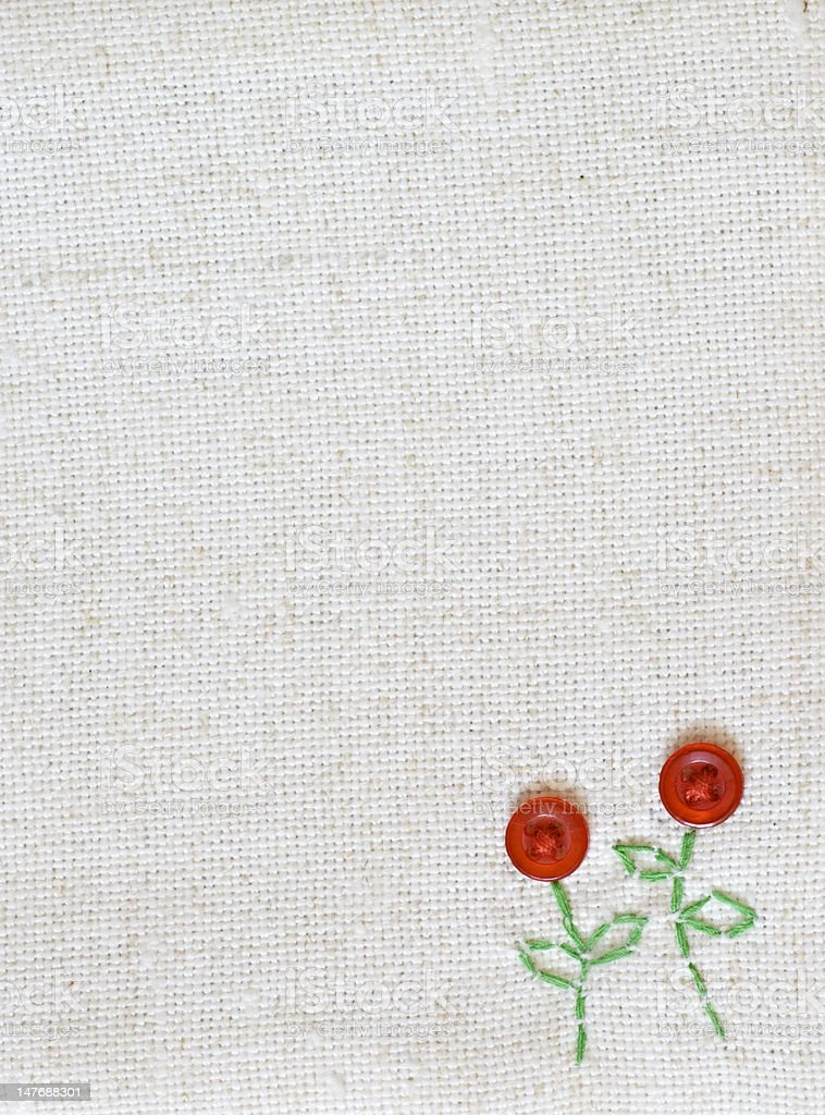 sackcloth sewed with patterns royalty-free stock photo