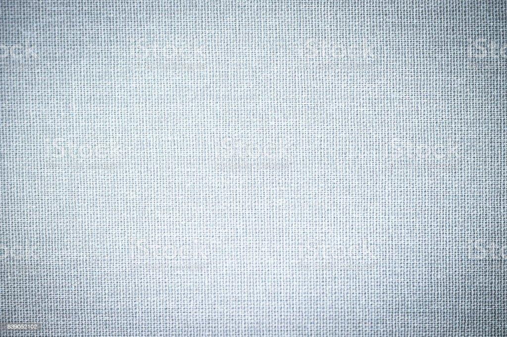 sackcloth textured background, blue pastel colour stock photo