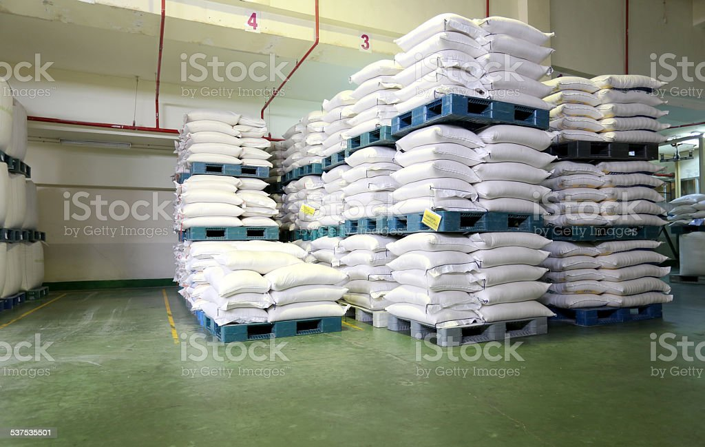 Sacks of dough. stock photo