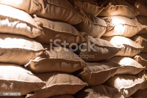 Estoque de cereais para transporte