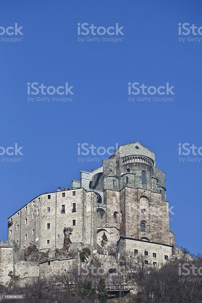 Sacra di San Michele - Italy stock photo
