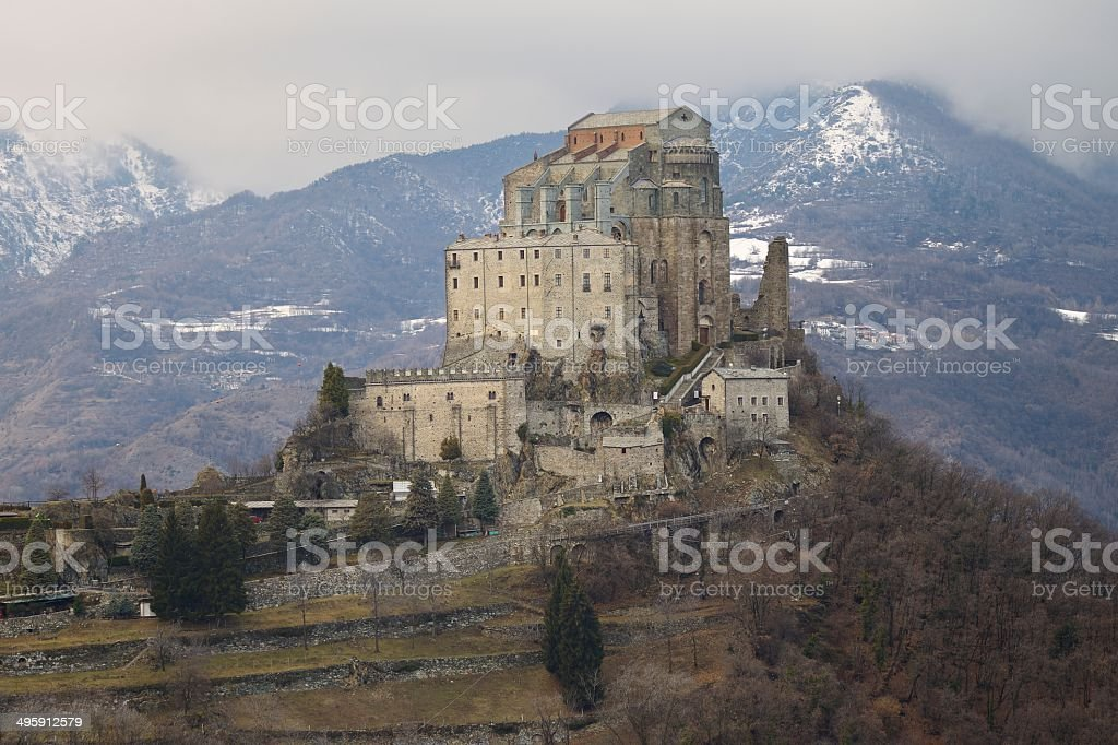 Sacra di San Michele or Saint Michael's Abbey stock photo