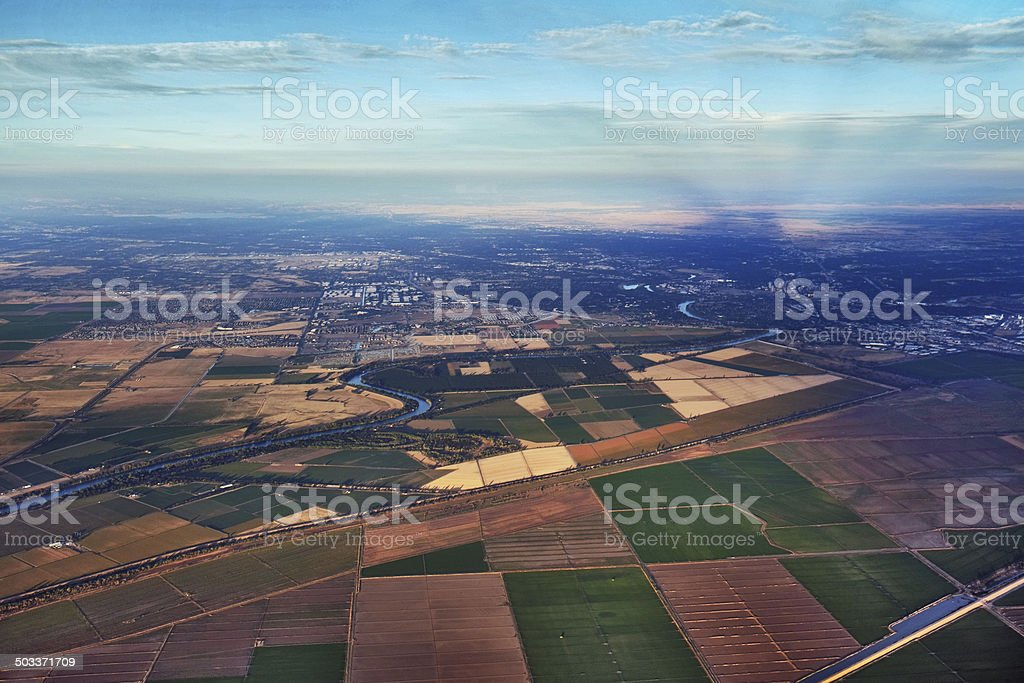 Sacramento and Surroundings from the Air stock photo
