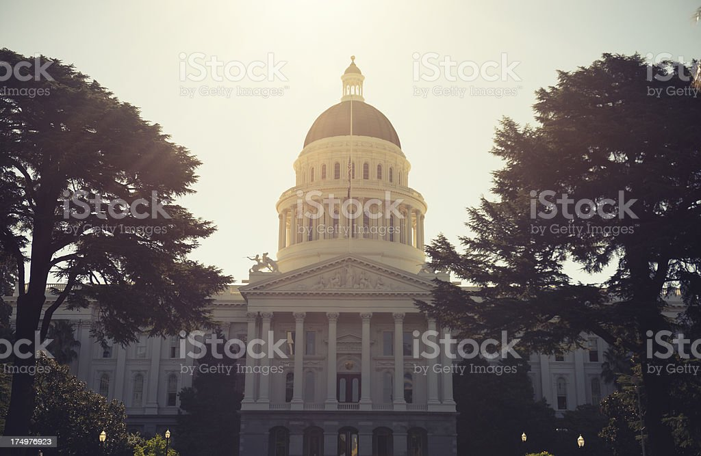 Sacramento capital building - California royalty-free stock photo
