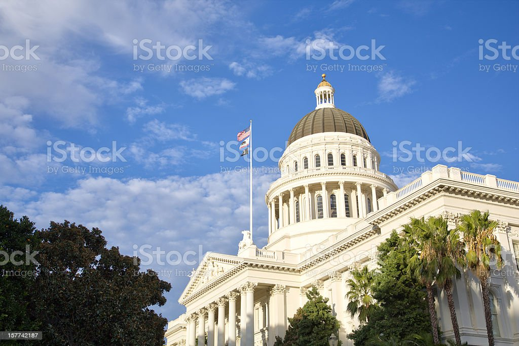Sacramento capitol building royalty-free stock photo