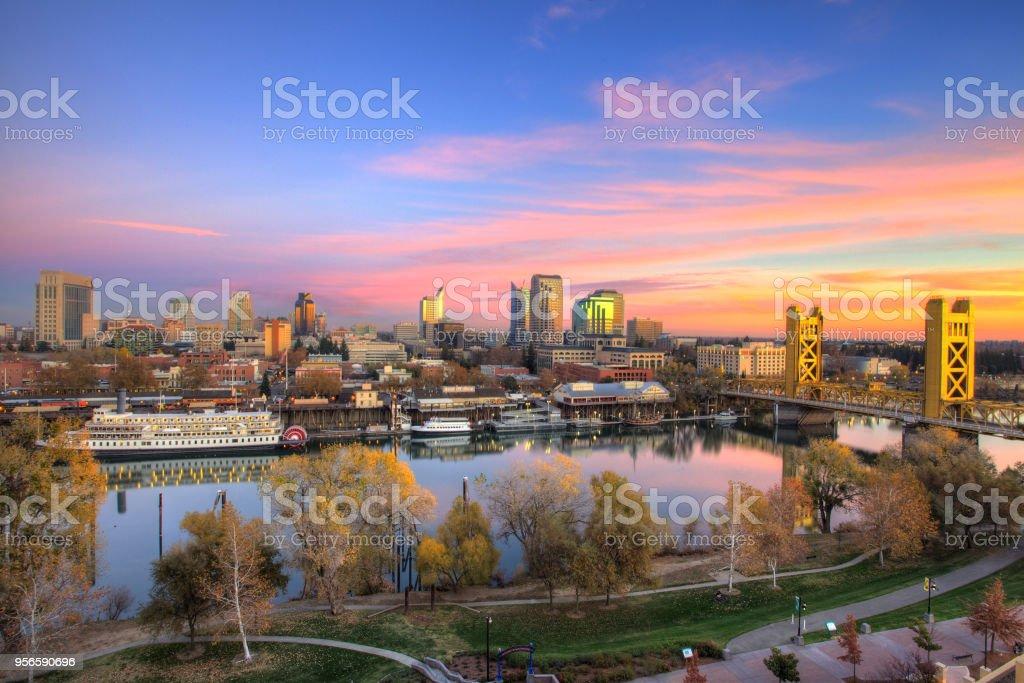 Ciudad de Sacramento - foto de stock