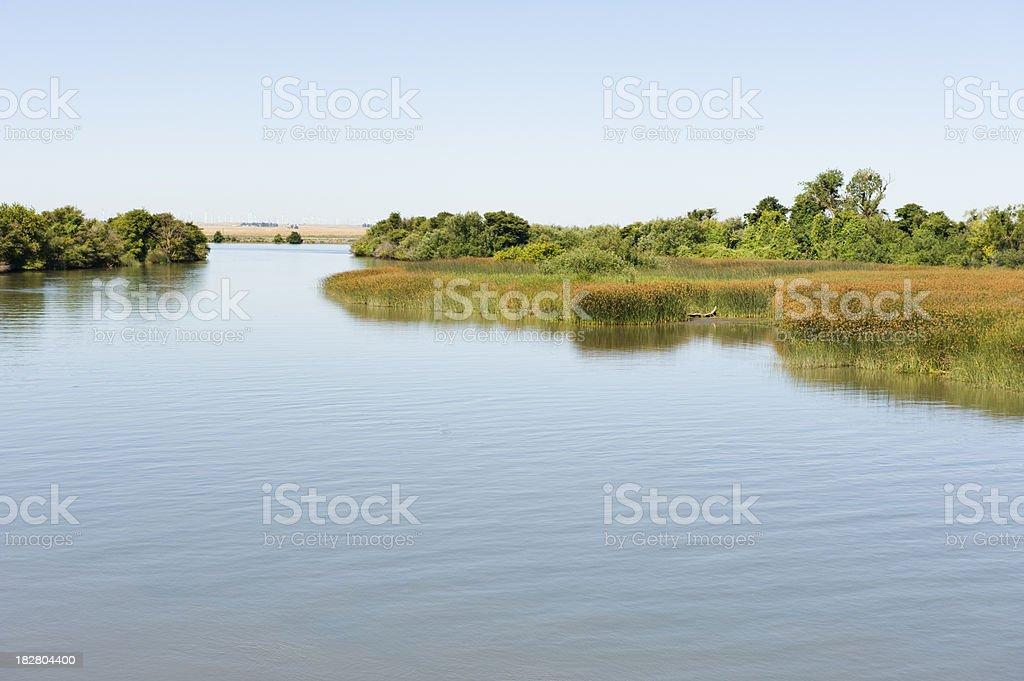 Sacramento Delta stock photo