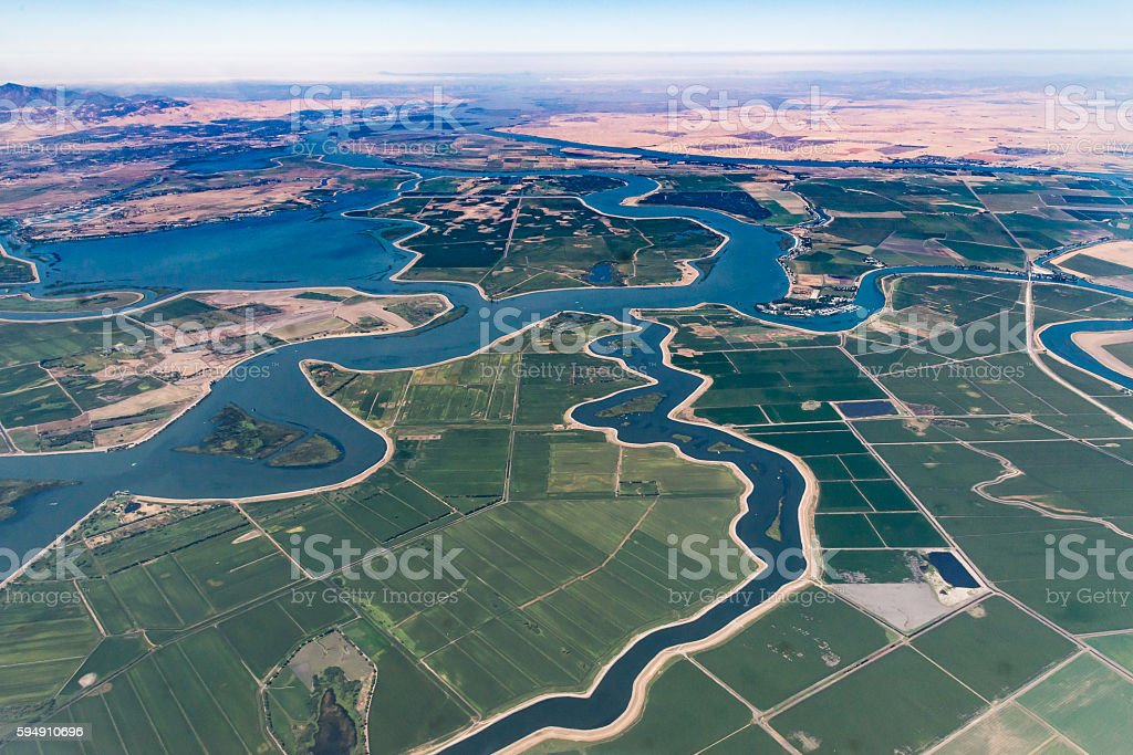 Sacramento River Delta stock photo