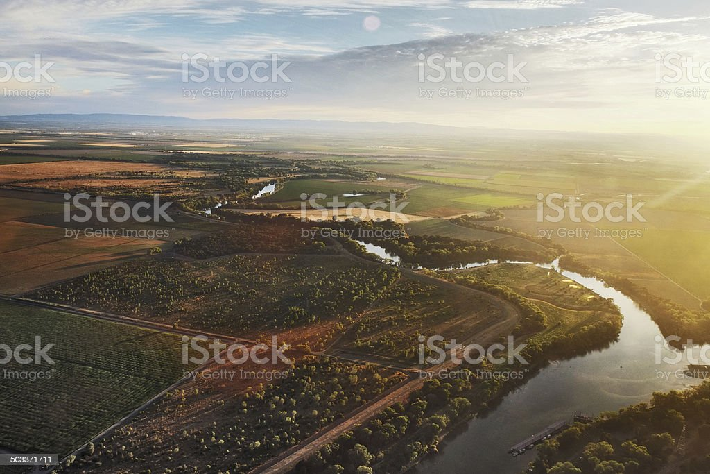 Sacramento River near Sacramento stock photo