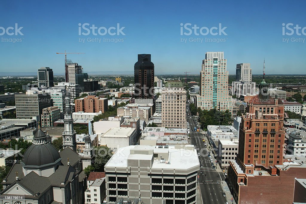 Sacramento Skyline royalty-free stock photo
