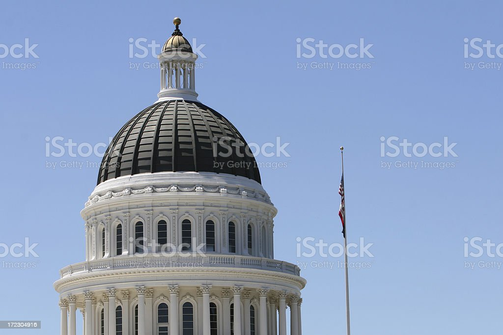 Sacramento State Capitol Building stock photo