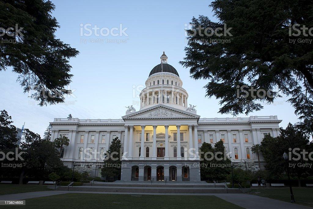 Sacramento State Capitol Building royalty-free stock photo