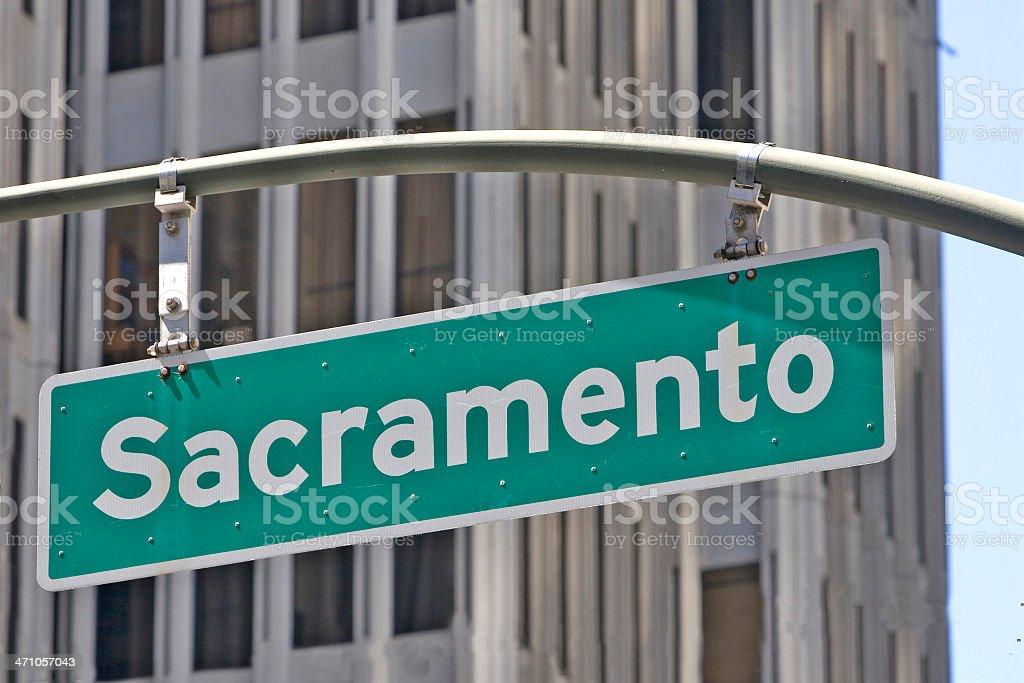 Sacramento street sign royalty-free stock photo