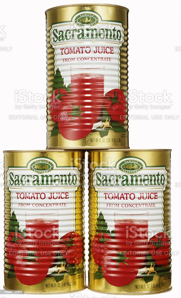 Sacramento Tomato Juice stock photo