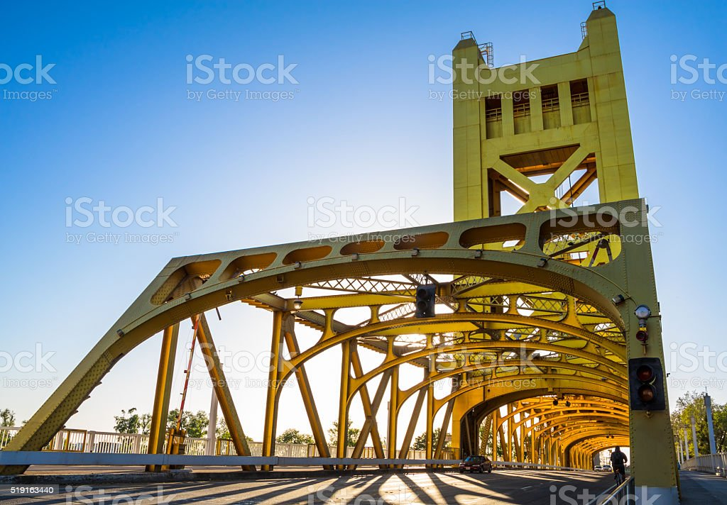 Sacramento Tower Bridge stock photo