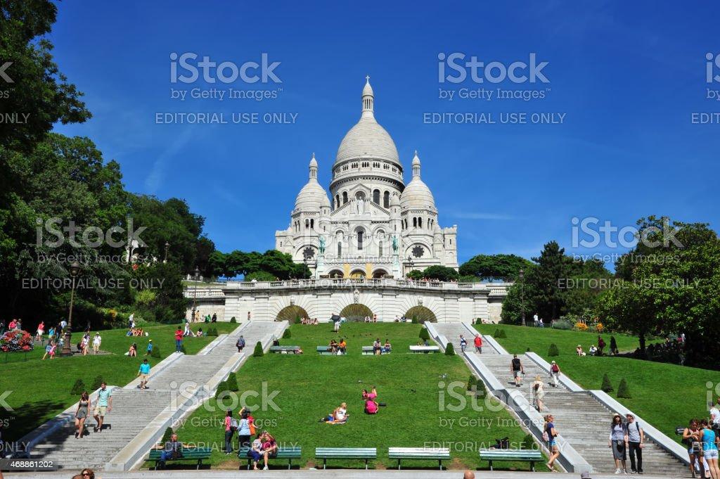 Sacré-Coeur Basilica in Paris stock photo