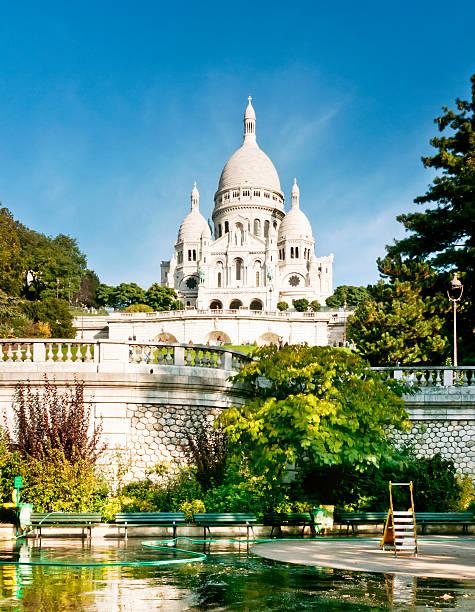 sacré-coeur de montmartre in paris - montmatre utsikt bildbanksfoton och bilder