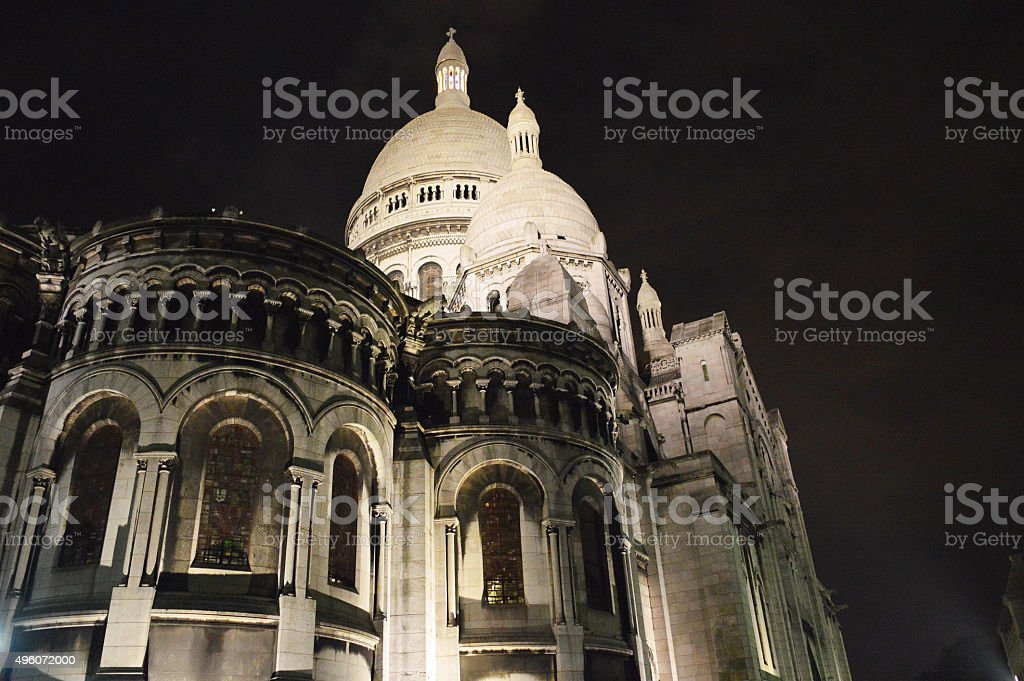 Sacre Coeur Basilica of Sacred Heart of Jesus stock photo