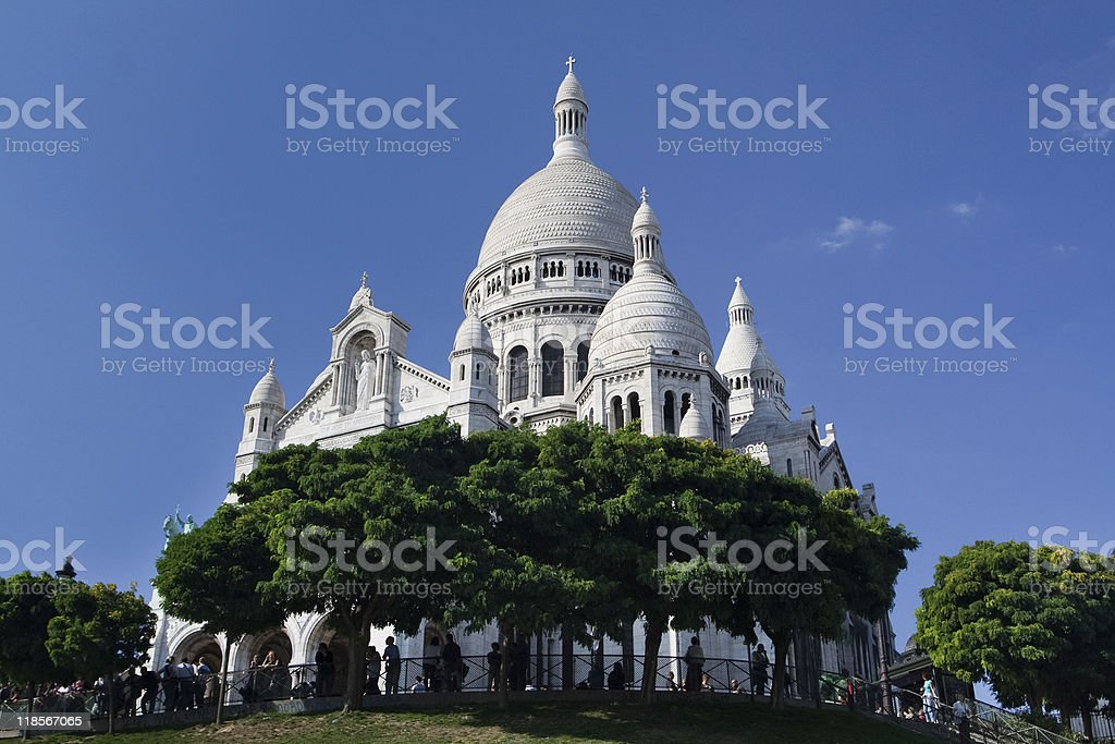 Sacre Coeur - famous cathedral in Paris, France royalty-free stock photo