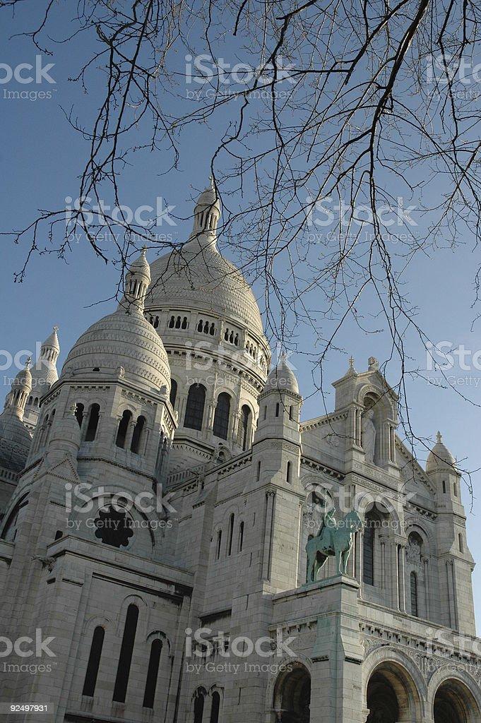 Sacre Coeur, Montmartre, Paris, France. royalty-free stock photo