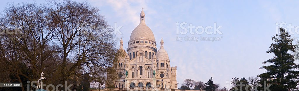 Sacre Coeur, Montmartre, Paris royalty-free stock photo