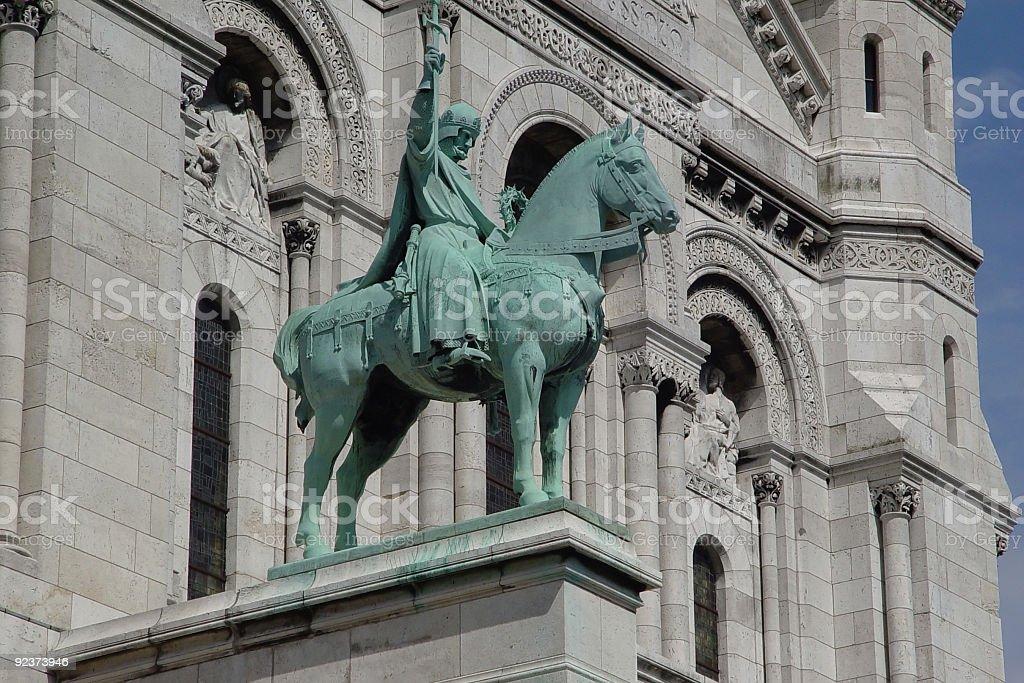 Sacre Coeur Statue royalty-free stock photo