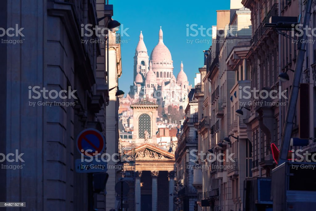 Sacre-Coeur Basilica in the morning, Paris, France stock photo