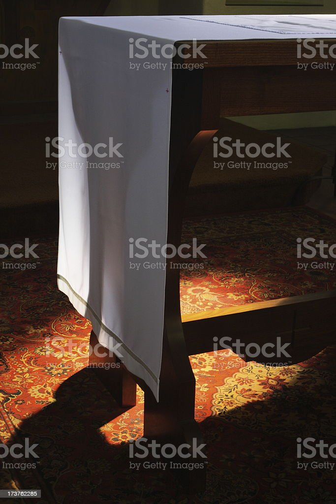 Sacred Church Altar Sunbeam royalty-free stock photo