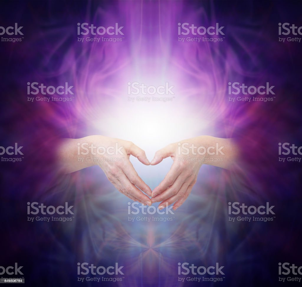 Sacred Healing Energy stock photo