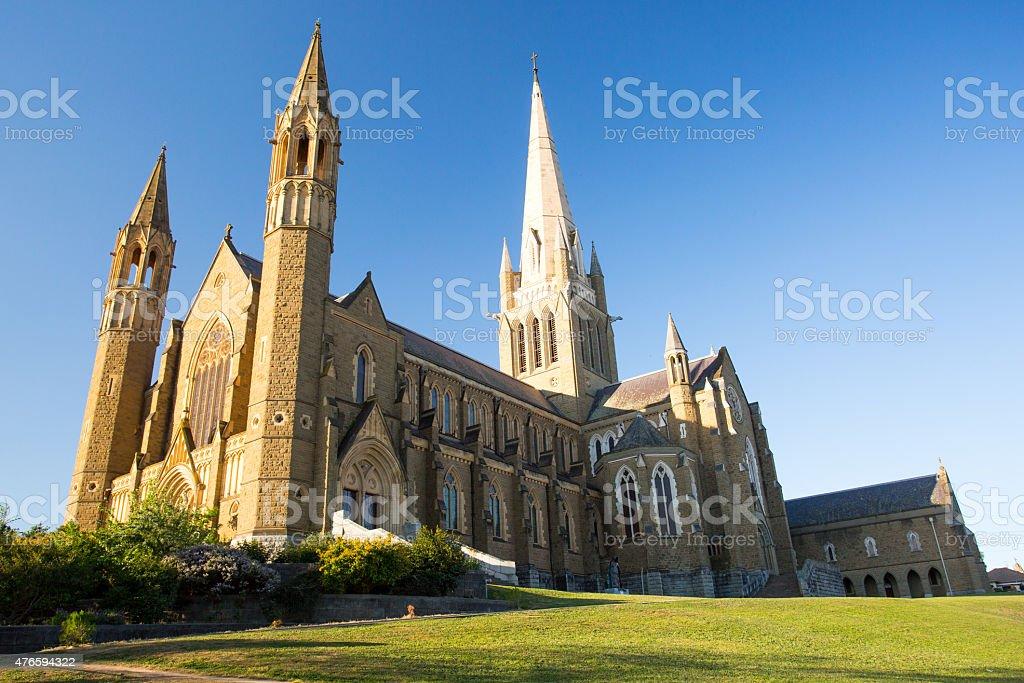 Sacred Heart Cathedral in Bendigo stock photo