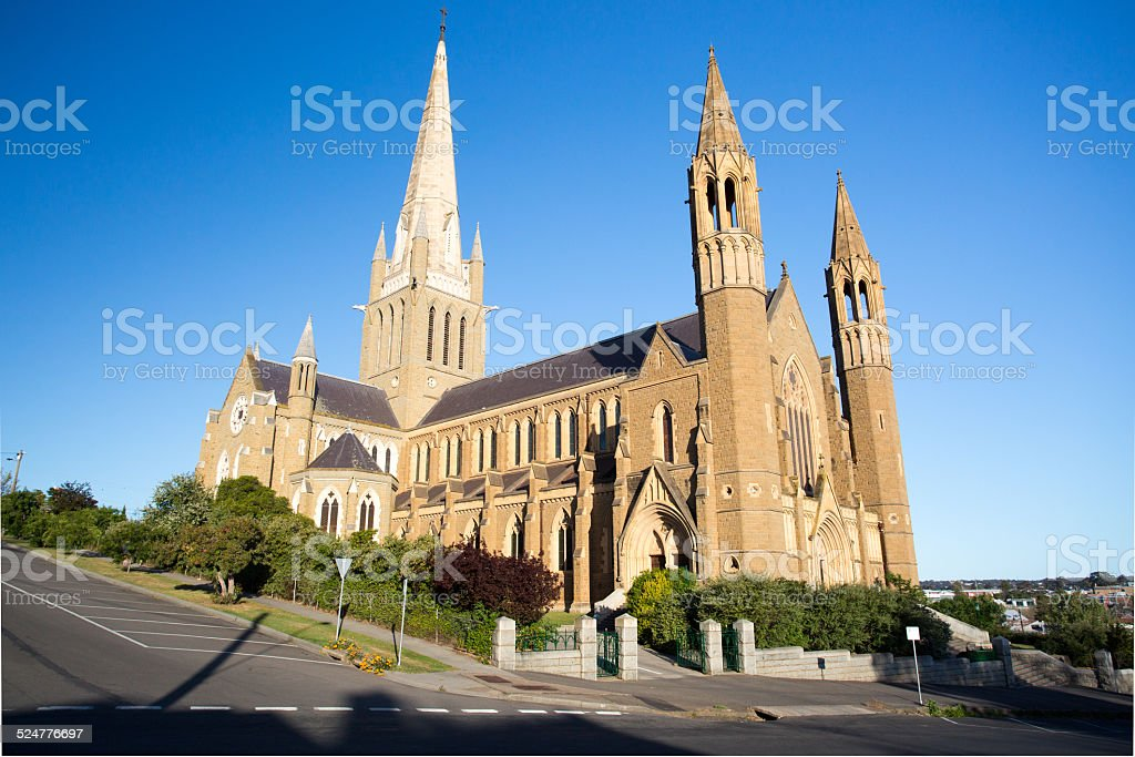 Sacred Heart Cathedral in Bendigo stock photo