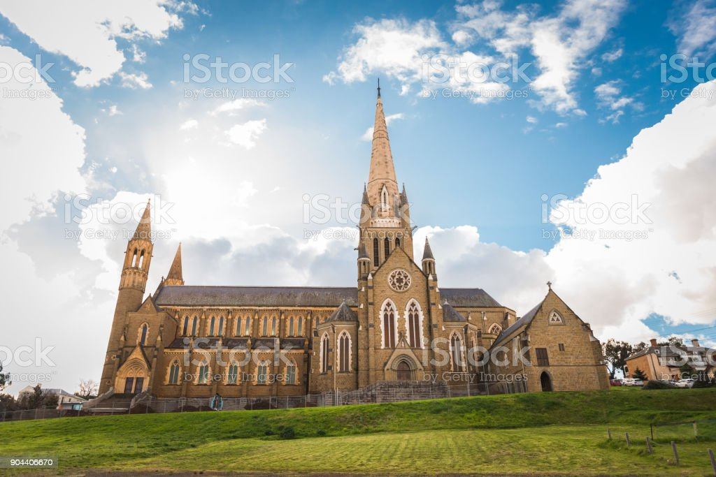 Sacred Heart Cathedral in Bendigo, Victoria stock photo