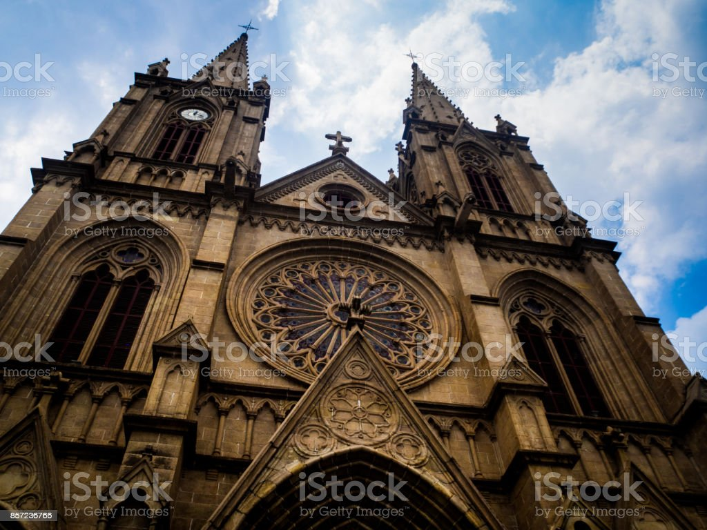 Sacred Heart Cathedral in Guangzhou, China. stock photo