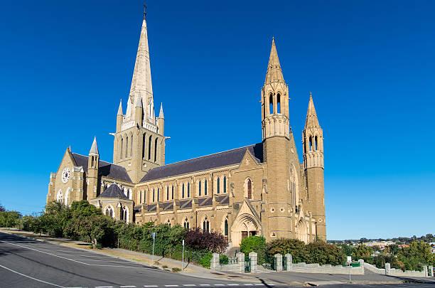 Sacred Heart catholic cathedral in Bendigo Australia stock photo