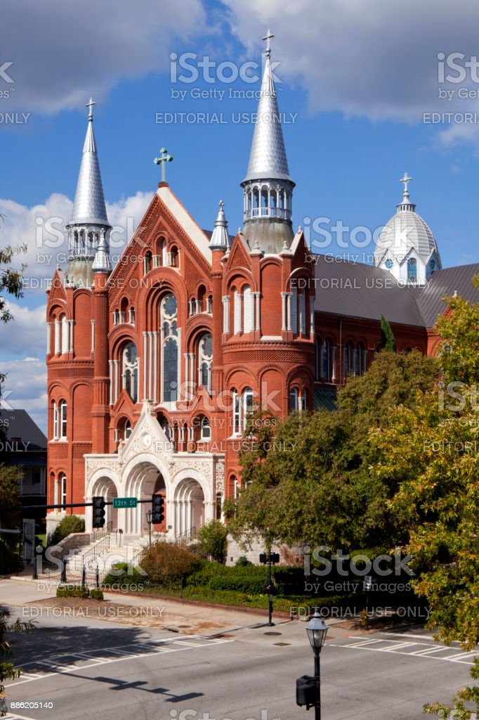 Sacred Heart Cultural Center and Church in Augusta Georgia stock photo