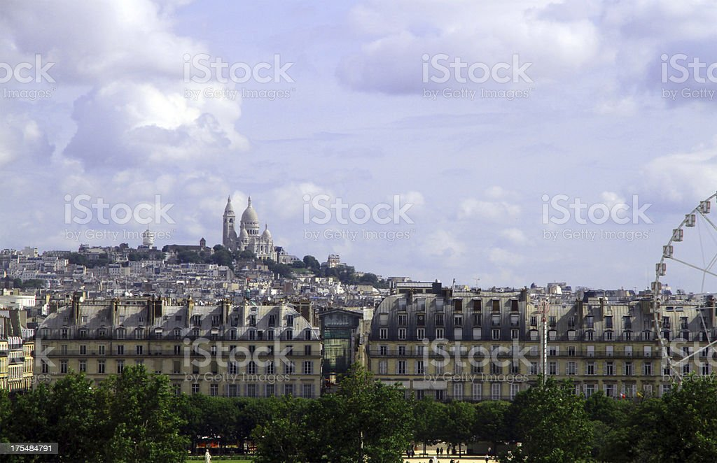 Sacred Heart in the Distance royalty-free stock photo