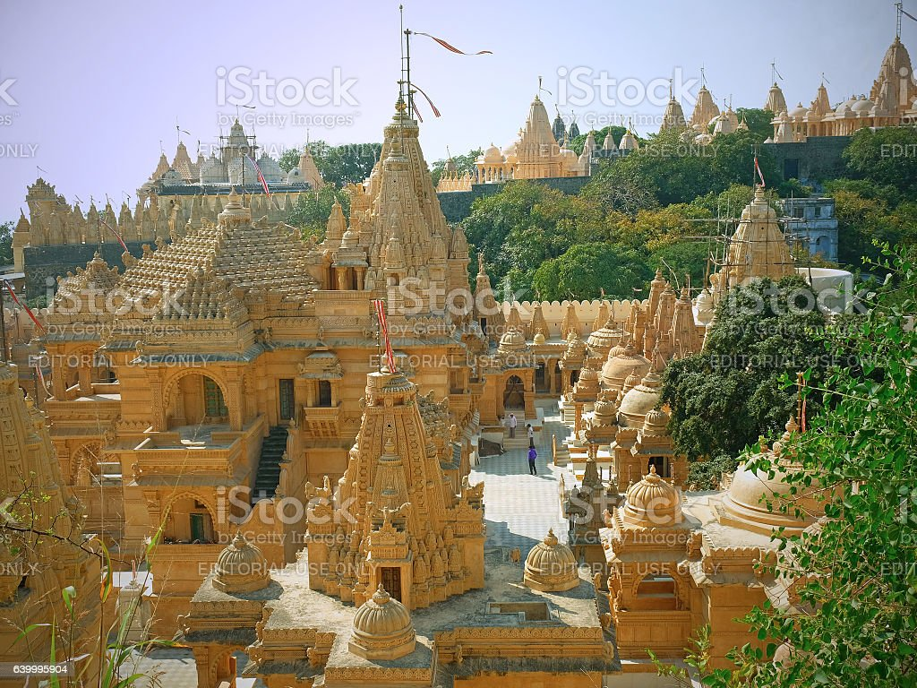 Sacred Jain site in Gujarat stock photo
