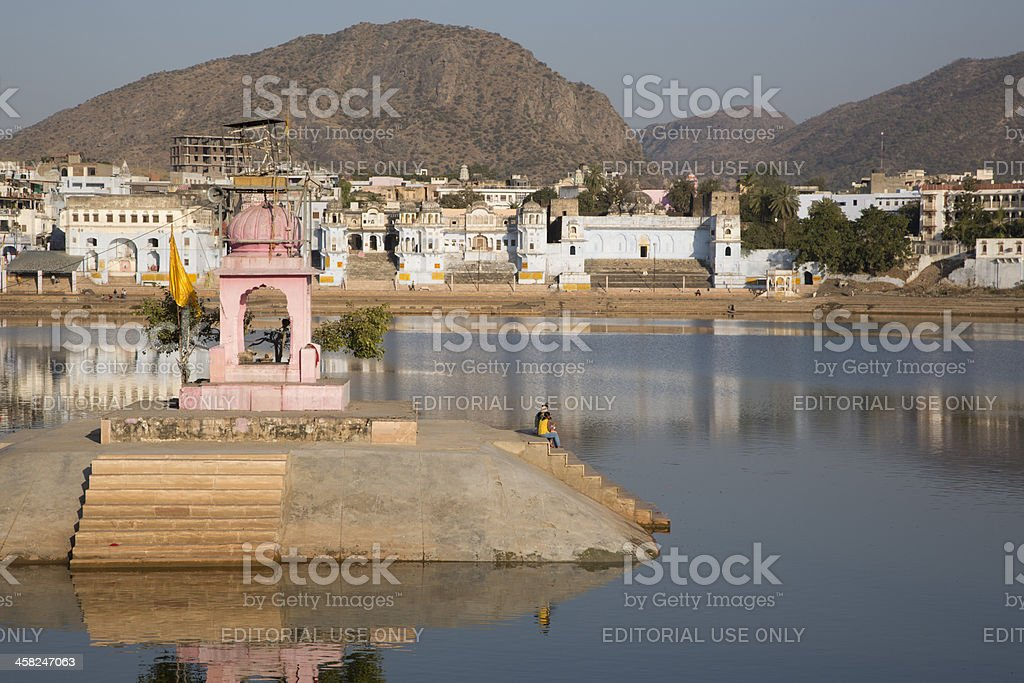Sacred lake of Pushkar India royalty-free stock photo