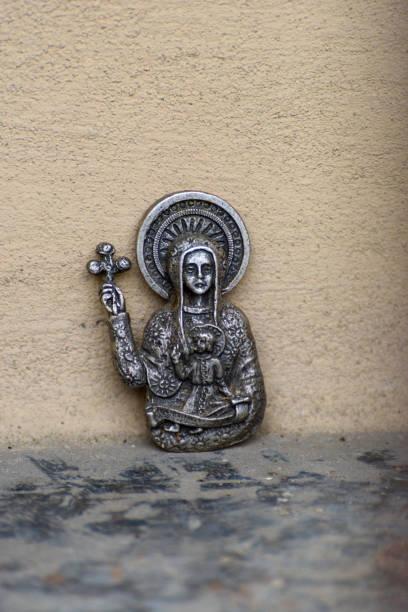 Sacred metal image. stock photo
