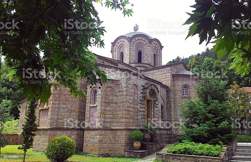 Sacred monastery of Saint Dionysios stock photo