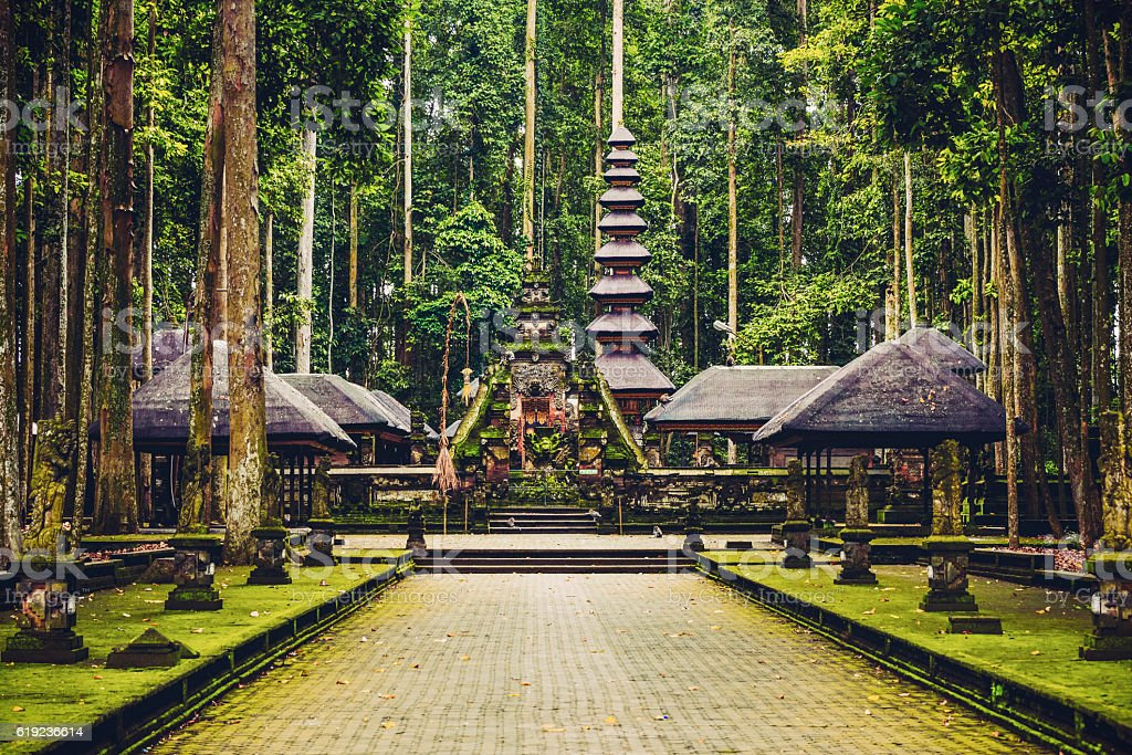 Sacred Monkey Forest Sanctuary in Ubud, Bali, Indonesia stock photo