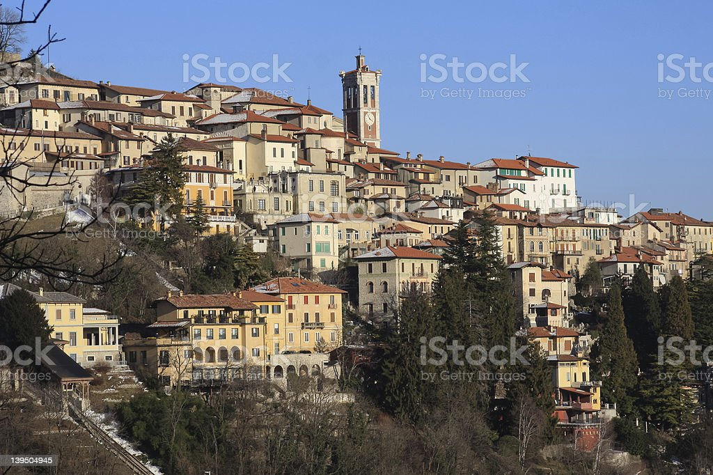 Sacro Monte di Varese stock photo