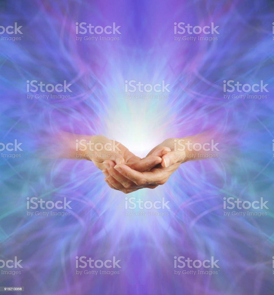 Sacred Purple Ray Healing Energy stock photo