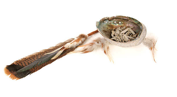 Sacred Sage And Smudging Tools stock photo